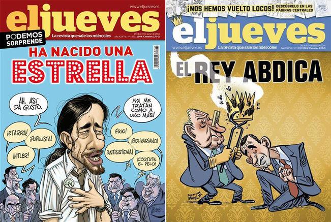 La portada publicada de Pablo Iglesias y la censurada del Rey